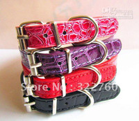 Wholesale 12 cm pu leather dog collar pet collar