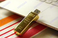 Wholesale 20pcs GB Gold bar USB Flash Memory Pen Drives Sticks Disks GB Pendrives Thumbdrives