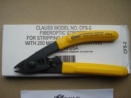 CLAUSS Fiber Optic Stripper Model CFS-2 Wire Stripper Comfort-grip Ergonomic Handles Fiber Optic Equipment Hot Selling Free Shipping