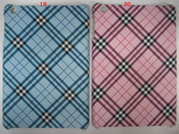 Wholesale Tartan Grid Waving Snake PU Leather Hard Back Cover Case For Apple iPad Mini