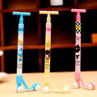 Wholesale 50pcs Super Hit Mini Kick Scooter Pen Novelty Pens Ball Point Pen Worldwide