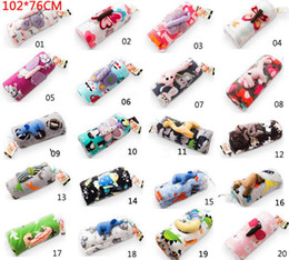Wholesale New Fashion cart baby blanket sets Animal Cartoon Double Layer Fleece Blanket Baby Blankets Air conditioning Blanket amp baby toys CM