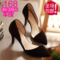 Wholesale dress special spring new women s shoes sheepskin leather pointed s