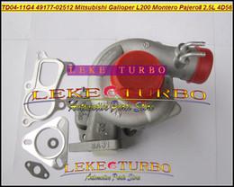 TD04-11G-4 49177-02512 28200-42540 MD170563 Turbo For Mitsubishi L200 Montero Pajero II for Hyundai Galloper 2.5L 4D56Q 4D56 turbocharger