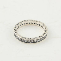 Wholesale High quality Women Ring Engagement Rings Sterling Silver White Crystal Charm Ring European Pandora Style Charm Ring Fashion Jewelry Ring
