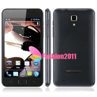 Wholesale 1pcs quot MTK6577 Smart Phone N9770 Android4 Dual SIM M G Quadband GPS Wifi G Phone smartphone AAA quality