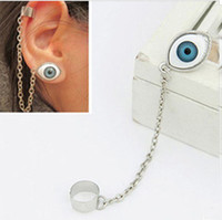 Wholesale Fashion earrings Japanese Harajuku style Gothic punk eye eyes earrings Clip Cuff Stud Earrings with tracking number