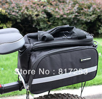 Wholesale Black Cycling Bicycle Bag Bike Rear Back Seat Pouch Pannier Black Blue Red