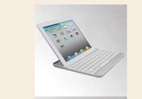Wholesale HOT Bluetooth Aluminium Keyboard case with stand for New ipad for ipad wireless keyboard