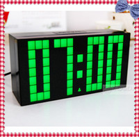 Wholesale 1Piece Large LED Jumbo Alarm Wall Clock Display Digital Table amp Desk Calendar Temperature Date Watch Weather Countdown Timer Clock Display