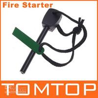 Wholesale Outdoor Survival Magnesium Flint Stone Fire Starter Lighter Kit H4528