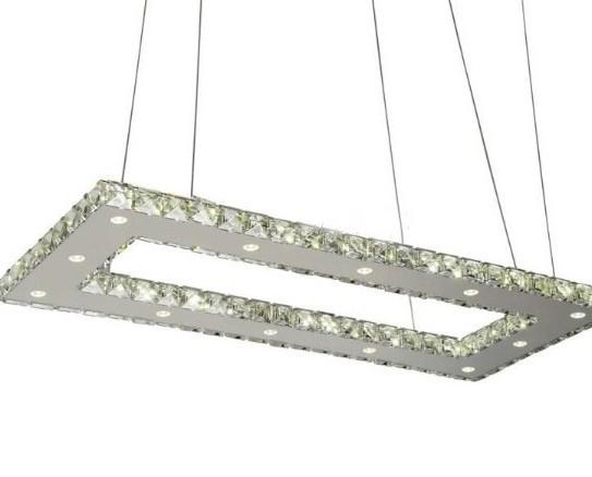 Modern Square K9 Crystal Pendant Lamp Living Room