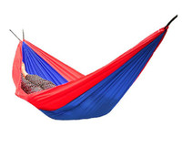Wholesale Double Camping Outdoor Leisure Parachute Hammock Color Block Fits Two People