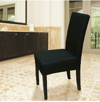 bar chairs black - New High Quality Black Terylene Chair Cover for Banquet Hotel Bar and Party
