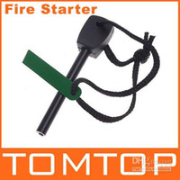 Wholesale Outdoor Survival Magnesium Flint Stone Fire Starter Lighter Kit H4528