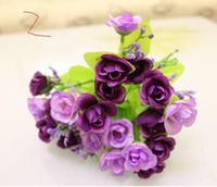 Wholesale Artificial flowers rose purple