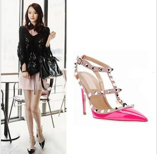 2013 Popular Models Sexy Patent Leather Pointed Toe High Heel