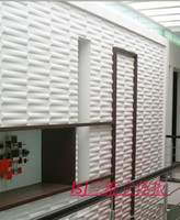 Wholesale 3d wall panel cover board Tv background wall wallpaper embossed modern bars three dimensional eco friendly decoration material