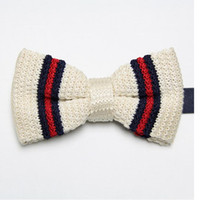 Men ascot - butterflies fashion knitted ties men s necktie dress tie knot wool bowties cravat ascot F5