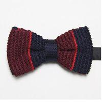 Wholesale butterflies fashion knitted ties striped men s necktie new arrival dress tie knot wool bowties cravat ascot F7