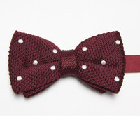 Wholesale butterflies striped men s bow ties knitted tie knot bowtie bows neckwear E1