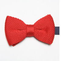 Wholesale butterflies cravat blue knitted tie knot necktie red bowtie striped bows neckwear C8