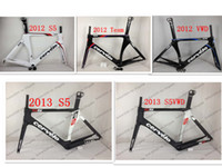 Wholesale Cool cervelo s5 S5vwd Carbon Road Bike Frame Fork Headset Seatpost Cervelo S5 Team VWD Full Carbon bike frame