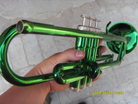 Wholesale Manufacturers custom ytr inventory small brass instruments surface army green Bb trumpet