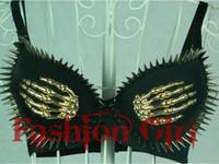 Nylon sheet metal - punk Fashion finger sheet metal rivets punk bra