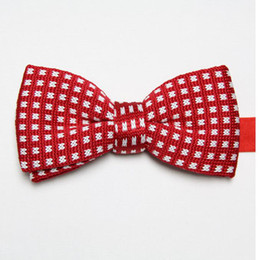 butterflies polyester knitted ties bowknot men's necktie business red tie knot wool bowties cravat ascot D5