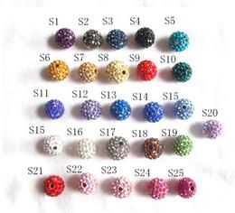 Wholesale Shamballa bracelets clay polymer clay beads AB mud stick drill clay diamond ball mm