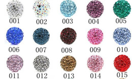 Wholesale hot Shamballa bracelets clay polymer clay beads AB mud stick drill clay diamond ball mm