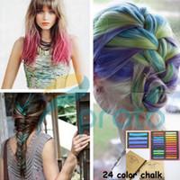 Wholesale Colors Fashion Non toxic Temporary Pastel Color Chalk For Hair Hair Chalk Dye Pastels SKU J0001