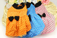 Wholesale 2013 summer new pet cute Polka Dot wedding dress tutu Dog Clothing Teddy Bichon clothes Dog Apparel color drop shipping
