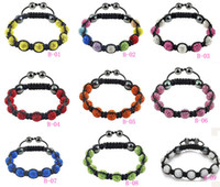 Beaded, Strands shamballa bracelets - Cheap Shamballa Bracelets ball disco ball beads