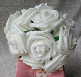 Artificial Foam Rose Flower 100pcs 17cm Long PE Single Head Camellia Rose for Wedding Centerpieces Christmas Party Decorative Flowers