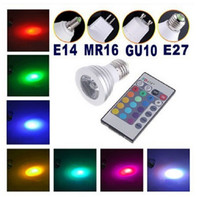 Wholesale Hot Sale Energy Saving W GU10 E27 MR16 RGB E14 LED Bulb Lamp light Color changing IR Remote