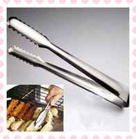 Tongs bbq party food - BBQ Buffet Scallop Salad Cake Clamp Party Stainless Steel Food Tong Kitchen Tool
