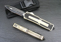 Wholesale Drop shipping microtech mini pocket knife Serrated Drop Point Blade camping hiking survival knife knives cutting tools for outdoor sports