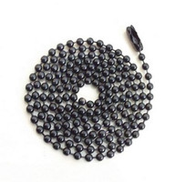 beaded chain findings - 10 mm Ball Metal Beads Chains Necklace Findings Black Color