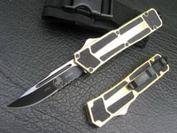 Wholesale Drop shipping microtech SCARAB pocket knife Serrated Drop Point Blade single blade camping hiking survival hunting knife KNIVES tool