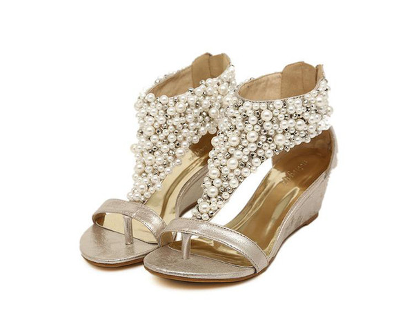 Group of: Black Pu Retro Beaded Detail Open Toe Sandals @ Women's