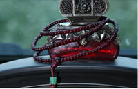 Wholesale High grade long section of red sandalwood beads for security and peace Automotive pendant Jushi car hanging ornaments car pendant accessorie