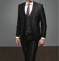 Wholesale custom made high quality piece black men s suits wedding suits western wedding tuxedos