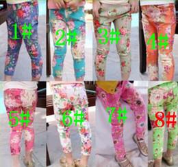 Cheap Girls Flower Skinny Jeans | Free Shipping Girls Flower ...