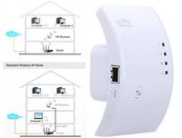 al por mayor la red del router gama expansor-Wireless-N Wi-Fi amplificador del repetidor 802.11N / B / G Red Range Expander Router 300M 2dBi antenas de señal Boosters