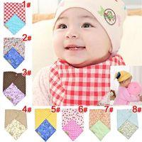 bandana uses - Infant Toddler Reversible Bandit Bandana Dribble Baby Bibs Triangled Double Side Use Snap fastener