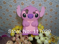 Wholesale wholesaler Free Via DHL Cute D Stitch Silicone Soft Back Cover Case For Samsung Galaxy Ace S5830