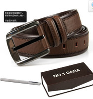 Wholesale Han edition pin buckle leather belt no1dara summer wear the new men s leisure Coffee color