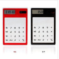 Wholesale Calculator calculator calculator transparent solar touch screen